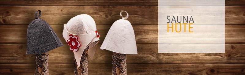 Sauna-Hüte bestickt