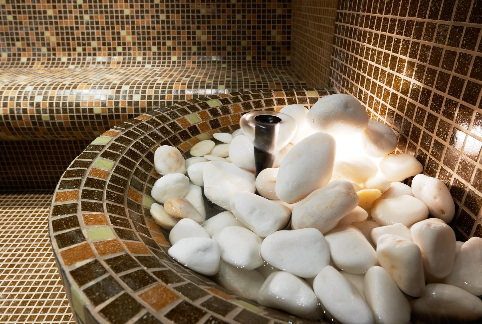 Hochwertige SaunaSteine aus Olivindiabas