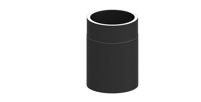 Isoliertes Rauchrohr Längenelement 250 mm