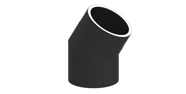 Isoliertes Rauchrohr Winkel 30° ohne Tür