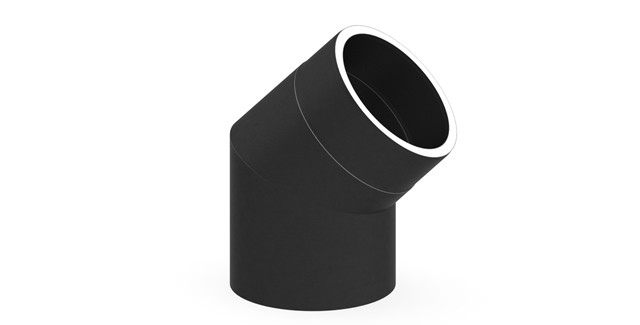 Isoliertes Rauchrohr Winkel 45° ohne Tür