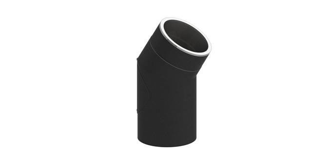 Isoliertes Rauchrohr Winkel 30° mit Tür