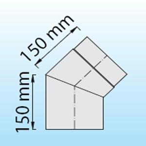 Rauchrohr für Ihre Sauna mit 45° Winkel