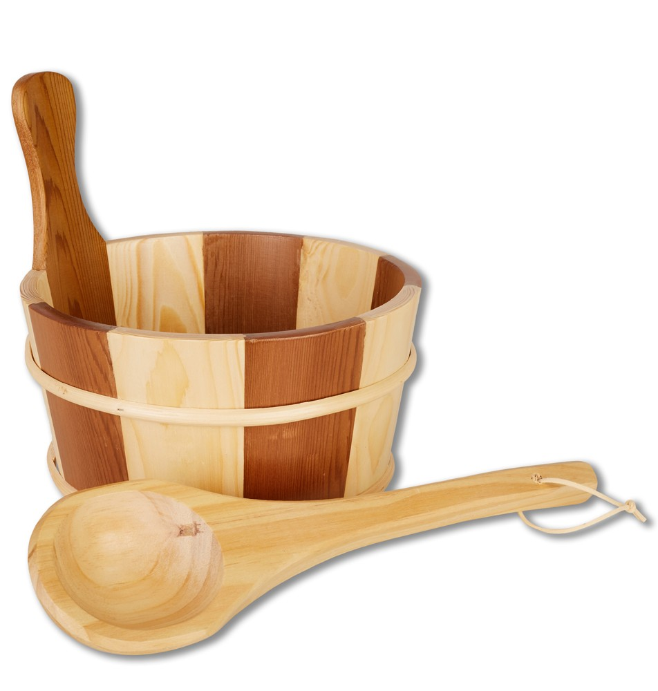 SaunaSet mit Holzgriff