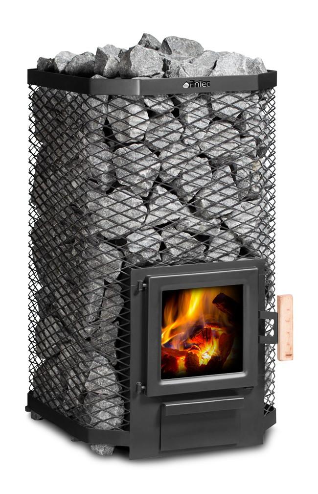 Holz-Saunaofen (Holzbeheizter Saunaofen) von FinTec - Erfüllt die 2.Stufe der 1.BimSchV