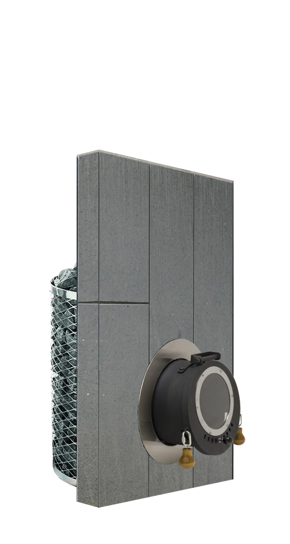 Holz-Saunaofen mit Außenbefeuerung IKI Wall