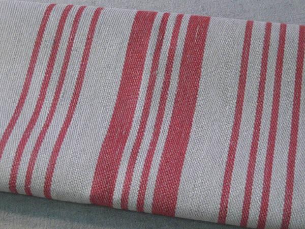 Saunatuch 150 cm aus 70 % Leinen (rot)