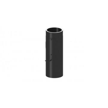 Isoliertes Rauchrohr Längenelement 500 mm mit Drosselklappe