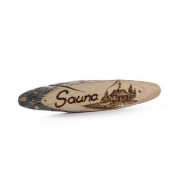 Sauna Schild aus Kelo-Holz