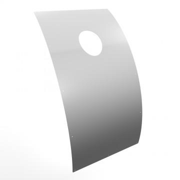 Strahlschutzblech für Fasssauna
