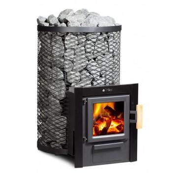 FinTec Holz-Saunaofen - Erfüllt optional die 2. Stufe der 1.BImSchV