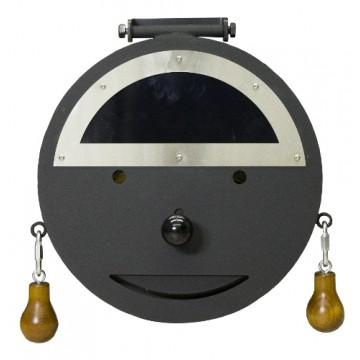 Saunaofen Tür Halbmond für IKI KIUAS