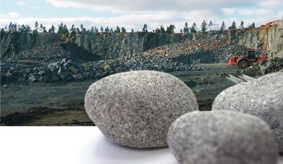 Olivindiabas ist der beste Granit für SaunaSteine. Bester SaunaStein